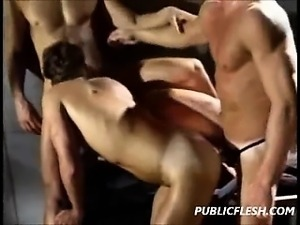 Retro Gay Rough Muscle Orgy