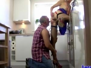Classy stockings mature fucks handy man