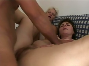 Anal action with two matures