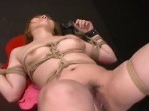 Chihiro, a very cute Japanese pain slut, is bound in a dungeon endures...