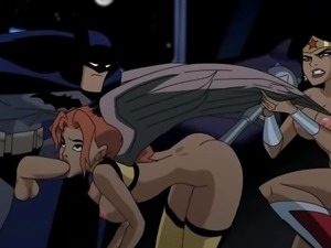 Batman hentai video: superheroes having sex