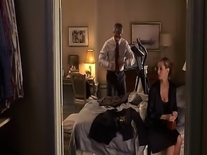 Kim Raver showing us her cleavage and nipples in some see