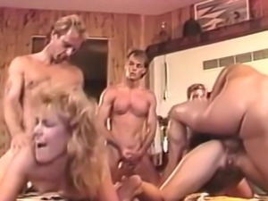 Nice porn group sex around many participants