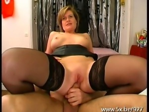 Mature Florence banged by 3 dicks