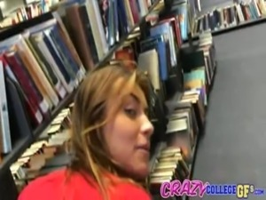 College girl fucks guy in public library before getting caught free