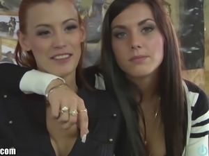 FRENCH Quebec Lane sisters are with nasty female friends Orgy follows after!