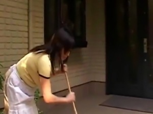 Japanese mother gets a special delivery from a chubby, weird Japanese...