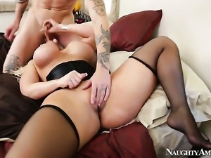 Alura Jenson gets slam fucked to orgasm by Cody Sky