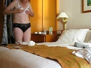Granny undresses for your delight and pleasure