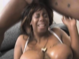 Black Ghetto Slut With Huge Tits Gets Her Face Destroyed