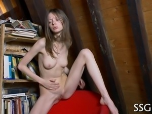 Young beauty needs to ease her wild pussy desperately