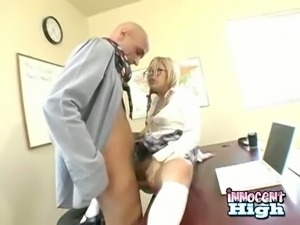Bald teacher chooses Kat Kiss as his next victim