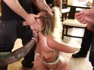 zoey has cocks slapped all over her face