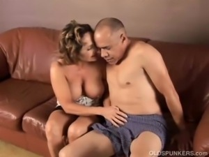 Gorgeous granny loves to fuck and eat cum free