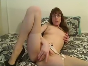 Skinny MILF With Glasses