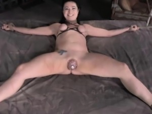 Worthless sub bitch getting canned and pussy pumped