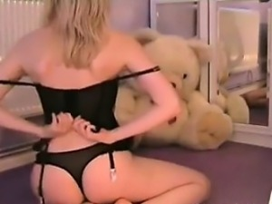 Blonde Chick Doing A Striptease
