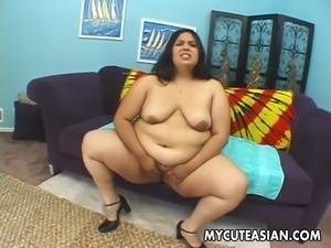 fat asian sucks white cock