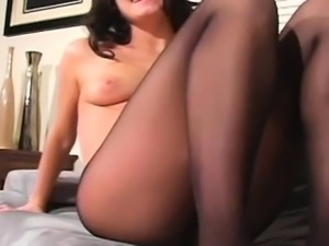 Voluptuous awesome girl in pantyhose