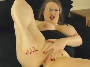 Big tit glasses slut