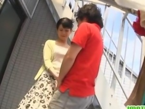 Raw dick riding with a busty wife