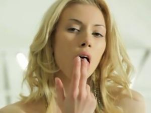 Skinny blonde Teen Loving Every Inch Of Her Innocence