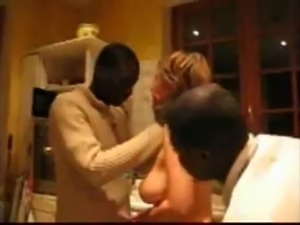 Wife with two black guys