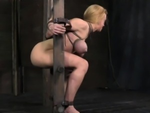 Tied up bdsm sub Darling harshly fucked