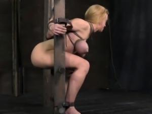 Tied up bdsm sub Darling harshly fucked