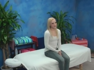 Alyssa allured and shaged by her massage therapist onto hidden cam