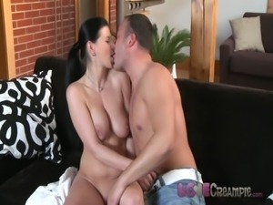 Love Creampie Busty 30s girl anal internal cum shot after making love free