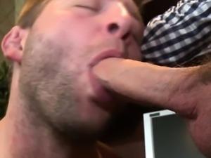 Gay college jock getting rimjob by his giving principal