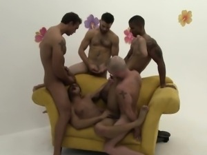 Tony Newport goes black at a gay orgy