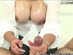 Mature british housewife titfucks