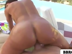 White girl Kendra Lust with her big ass