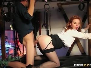 redhead milf rides stiff cock hard