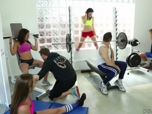 hardcore fucking at the gym @ neighborhood swingers #13