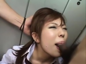 Schoolgirl, Kumiko Hayama, gets fucked hard