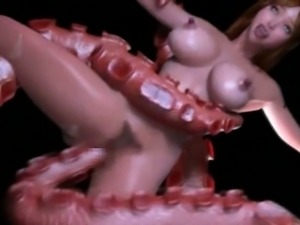 Alien and Tentacles Fuck 3d Girl!
