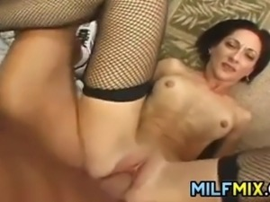 Naughty MILF In Stockings