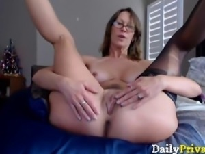 Amazing busty milf Jess Ryan with pierced clit
