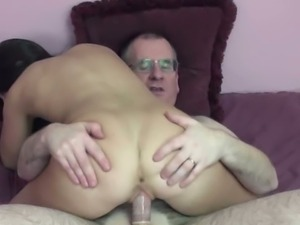Gianna Love banged by an older guy with geeky look