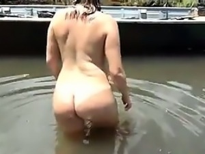 Brazilian Couple Having Sex In The River