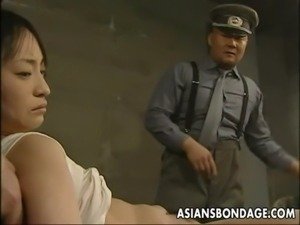 Japanese chick held down and stuffed with fat dicks free