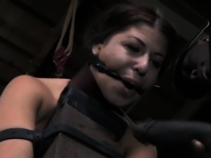 BDSM sub getting fucked with black cock