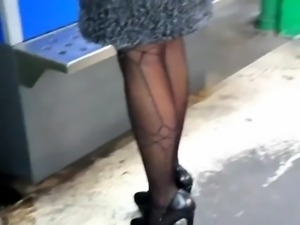 Following These Sexy High Heels In Public