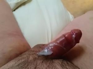 Old man dick cums