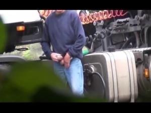 hot horny trucker wanking