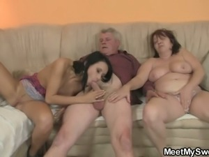 Sexy girlfriend banged by her lover's parents