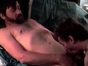 Dirty redneck enjoying blowjob session